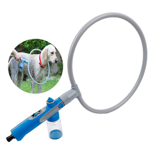 Ferramenta de chuveiro do gato do cão de estimação 360 pulverizadores de lavagem em forma de anel limpeza rápida banho de lavagem pulverizadores de banho suprimentos para animais de estimação