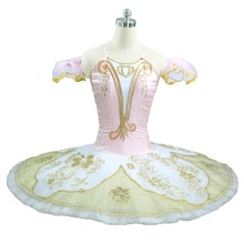 Professional Ballet Tutu pink Pancake ballerina ballet costume For Competition Or Performance