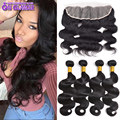 13x4 Ear To Ear Lace Frontal Closure With Bundles Cheap Virgin Brazilian Body Wave 4 Bundles With Closure Human Hair Weaves