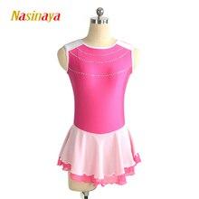 Nasinaya Figure Skating Dress Customized Competition Ice Skating Skirt for Girl Women Kids Gymnastics Performance Lovely недорого