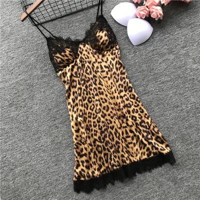 QWEEK Women Pajamas Leopard Pyjamas Women 2019 Spring Satin Pijamas Women Casual Elegant Pyjama Femme Silk Pijama Mujer Homewear 31