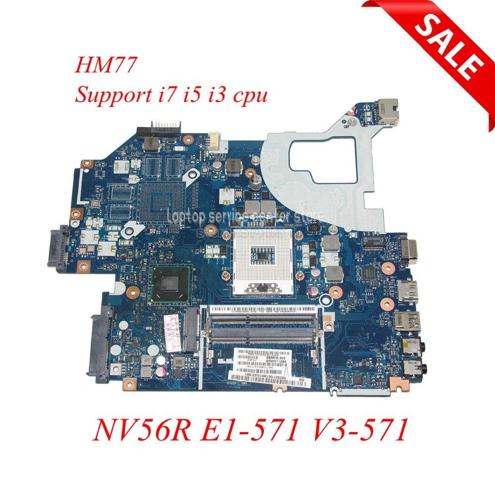 NOKOTION Q5WV1 LA 7912P laptop motherboard for Acer V3 571 for Gateway NV56R E1 571 HM77 HD4000 NBC0A11001 Support i5 i3 i7 cpu