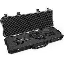 Funda de arma larga protector de la caja de herramientas a prueba de agua de instrumento maleta resistente al impacto caja de herramientas con pre-corte de espuma