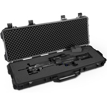 long gun case protective Waterproof tool box Instrument suitcase Impact resistant toolbox with pre-cut foam
