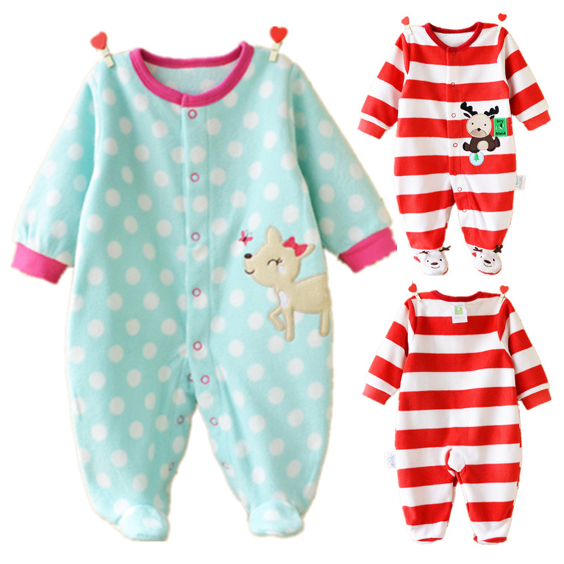 New Spring Baby Rompers Cotton Baby Girl Clothes Cartoon Newborn Baby Boy Romper Long Sleeve Infant Jumpsuits Christmas Clothes cotton newborn infant boy girl baby christmas romper jumpsuit outfit autumn winter long sleeve rompers