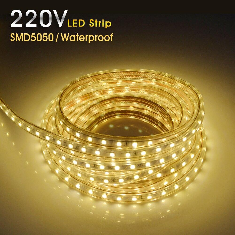 220v led strip waterproof smd5050 led light flexible lights led strips. Black Bedroom Furniture Sets. Home Design Ideas