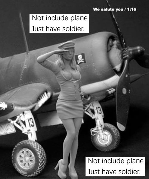 1/16 120mm Pinup Girl We Salute You   Toy Resin Model Miniature Kit Unassembly Unpainted