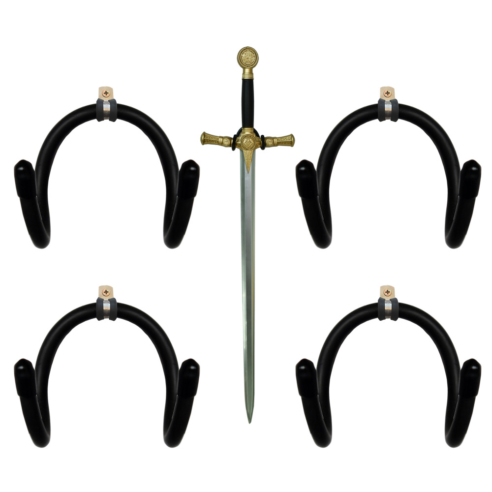 Mini Adjustable Sword, Wall Hook Display Hanger Wall Mount For Sword,Dagger,Axe, Etc-4/PK