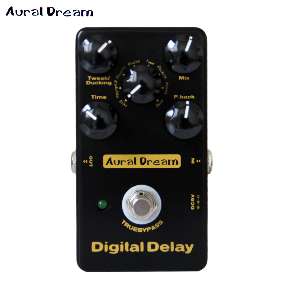 Aural Dream Digital Effect Pedal Digital Delay Five knobs of Digital Delay guitar pedal mini voltmeter tester digital voltage test battery dc 0 30v red blue green auto car page 4