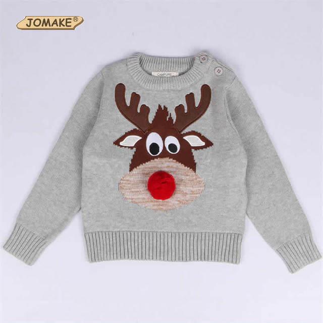Nueva Llegada de la Navidad Ciervos Niños Jerseys Para Bebés Y Los Muchachos Otoño E Invierno Casual Ropa de Niños Pequeños
