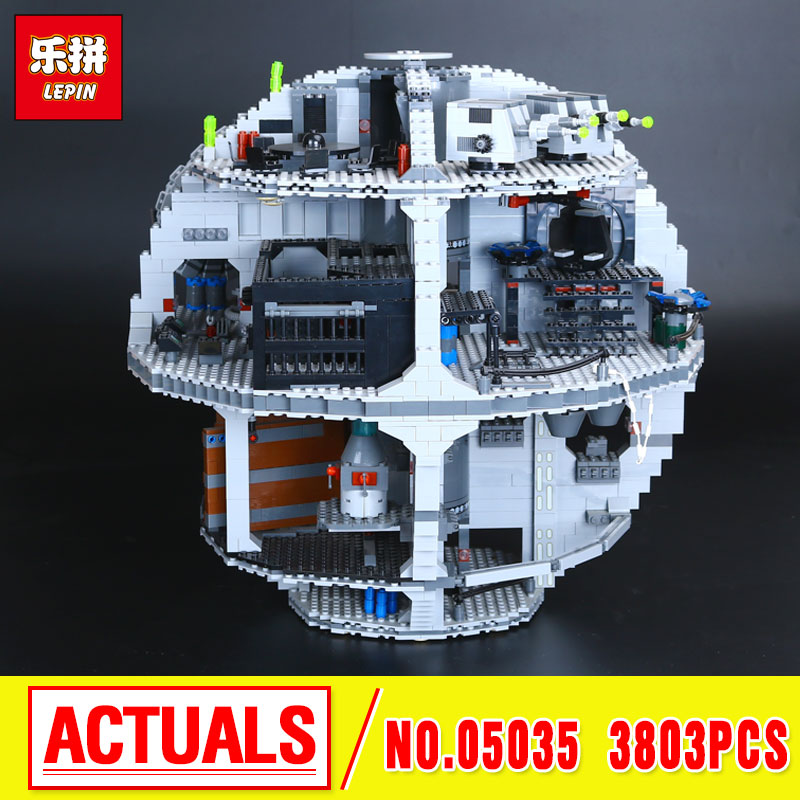 LEPIN 05035 3803pcs Star series Death  Building Star  Block Bricks Toys Kits  Compatible with 10188 Child Gift wars lepin 05035 star classic model wars death 3804pcs star building block bricks toys kits compatible with 10188 to holiday gifts