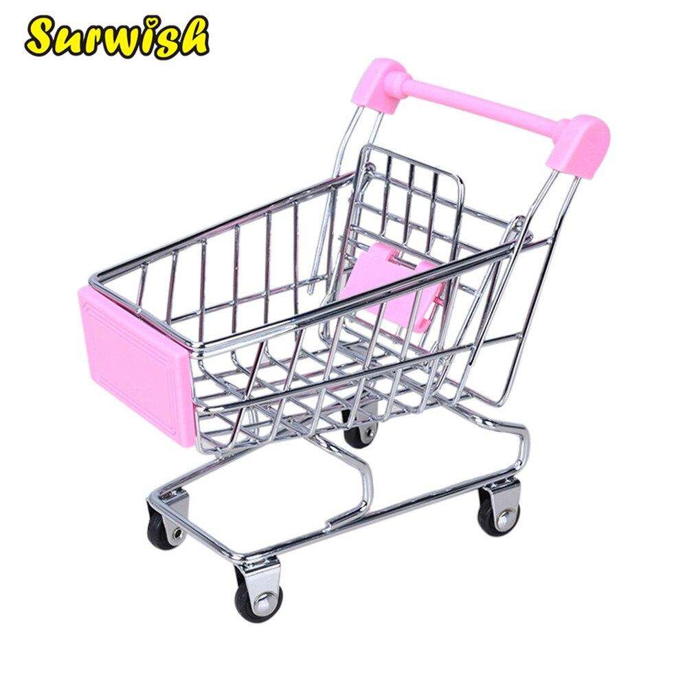 99ef18f54386 Surwish Criativo Mini Crianças Simulação Supermercado Carrinhos de Mão  Carrinho de Compras Carrinho Utilitário