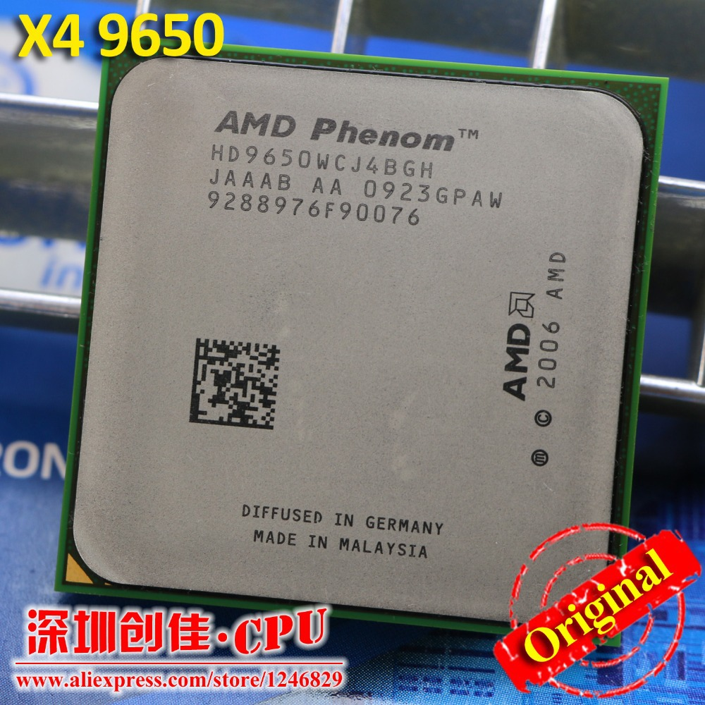 Free shipping Original AMD CPU Phenom X4 9650 processor 2.3G Socket AM2+/ 940 Pin /Dual-CORE / 2MB L2 Cache/scattered piece