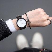 Amantes Relógio de quartzo Das Mulheres relógio de pulso de couro Casual Relógio ocasional das senhoras horas de Relógio