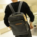 hot!! new 2017 Male fashion leather backpack school bags men's travel bags men's backpacks school backpacks