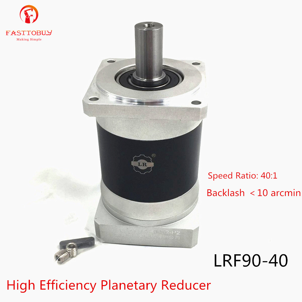 Menos de 10 arcmin Relação de Velocidade de Alta Precisão Redutor Planetário 80mm LRF90-40 40: 1, combinando NEMA32 Servo/Stepper Motor