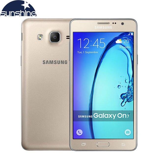 Оригинальный Разблокирована Samsung Galaxy On7 G6000 Мобильный Телефон Quad Core 5.5 ''13MP 4 Г LTE Android телефон 1280x720 Dual SIM Смартфон
