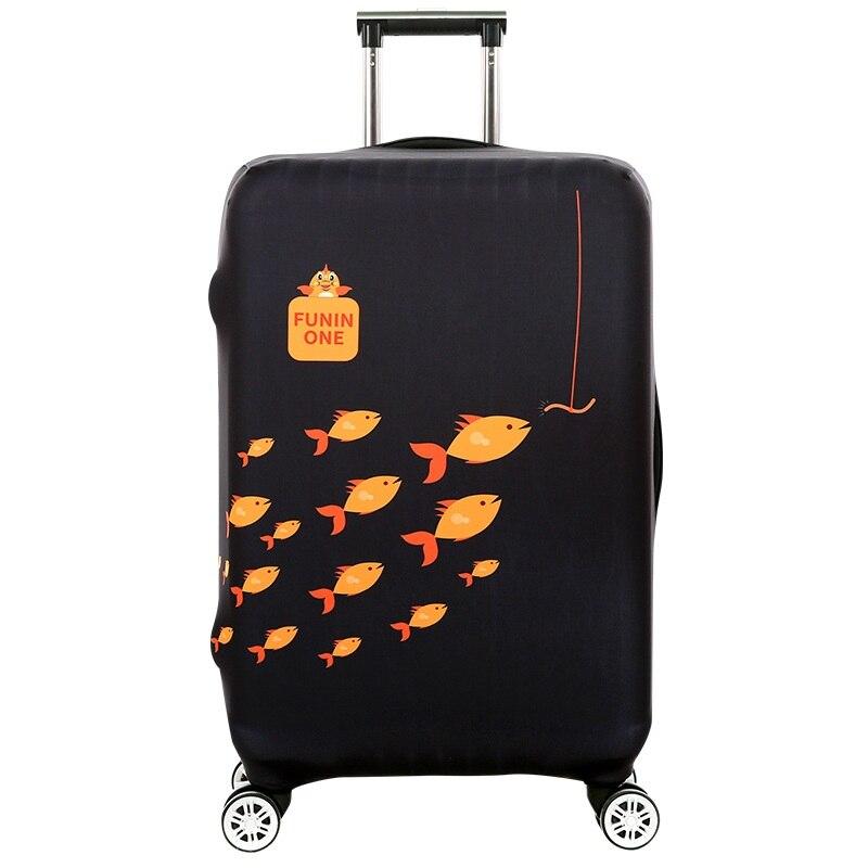 2018 Туристические товары милые рыбы шаблон печати Чемодан Обложка протектор тележка чемодан Чехлы для мангала Эластичный полиэстер пыле
