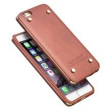 Для iphone 6 6 s Дело QIALINO натуральная кожа роскошный бизнес чехол для iphone 6/6 s случай крышки, заклепки дизайн для Apple 6/6 s плюс
