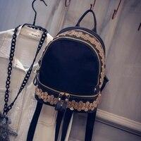 Oxford Cloth Leather Shoulder Bag Handbag With Rivet Size S Casual Backpack Bag Wind Tide
