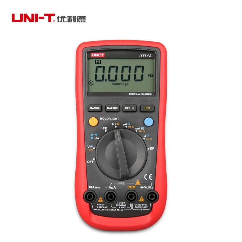 UNI-T UT61A Professional Digital Multimeter Electrical Handheld Testers LCD Backlight With Resistance Capacitance фильтр aqua el uni max professional fzkn 700 внешний