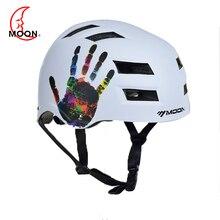 MOON Cycling Helmet Light Cushioning Riding Protect Ventilation Handprint Pattern For Mountain Bike