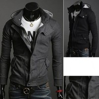 2013 Hot Fashion New Coats Men Outwear Mens Special Hoodie Jacket Long Sleeves Coat Men Clothes