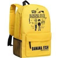 BANANA FISH Yollow Women Back Pack Ash Lynx Anime Bookbag Oxford School Bags for Teenage Girls Cute Travel Backpack Rugzak