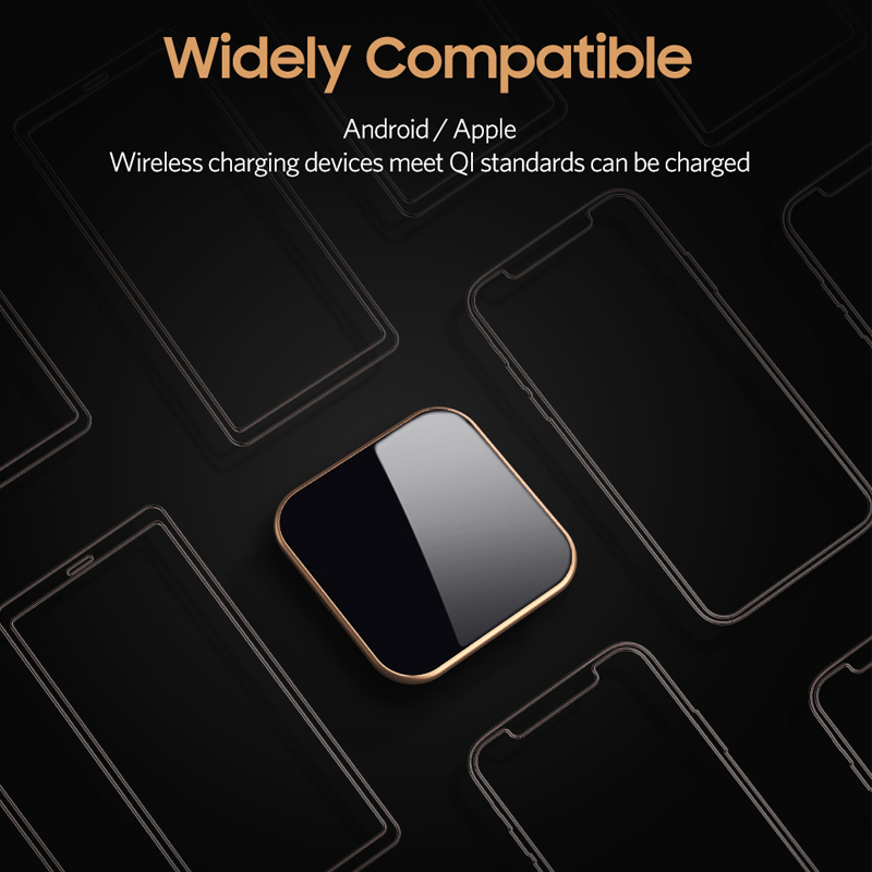 Benks W05 10W Fast Wireless Charger Qi Wireless Charger For iPhone Xs Max /Xr/ 8/8Plus AirPods Samsung Galaxy S9/S9+/S8/S8+
