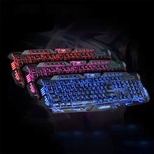 Hobbylane Tri Backlit Komputer Gaming Keyboard Teclado USB Powered Keyboard Game untuk Desktop Laptop Keyboard Game D20(China)