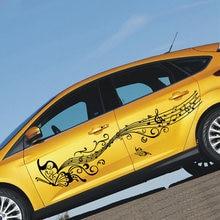 Автомобильные наклейки 180 см стильные бабочки декор музыки