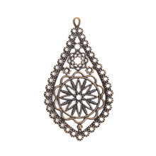 DoreenBeads โลหะผสมสังกะสี Embellishments Drop Antique Bronze Filigree (China)