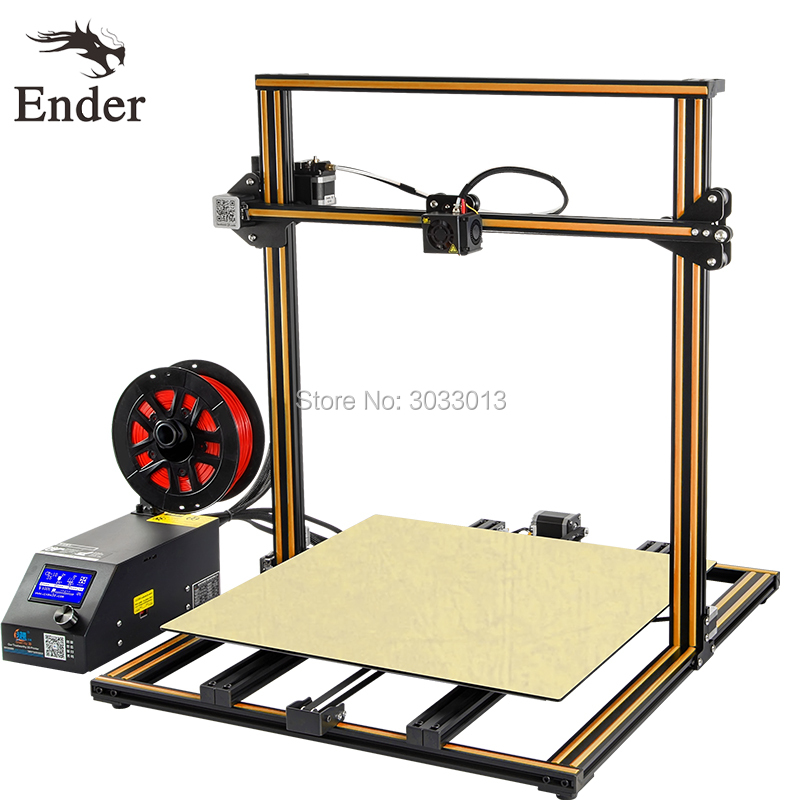 CR-10 5S 3D Kit de impresora 500*500*500mm Tamaño de impresión grande filamento monitoreo de alarmas de doble Z varilla, continuación impresión Creality 3D impresión