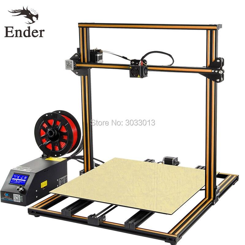 CR-10 5S 3D imprimante Kit 500*500*500mm Grande Taille d'impression Filament Surveillance D'alarme, double-Z Tige, Poursuite Imprimer Creality 3D impression