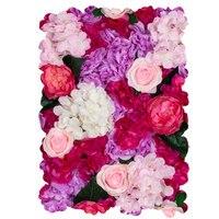 60*40*7 cm Silk Rose Flower Champagne Artificial Flower for Wedding Decoration Flower Wall Romantic Wedding Backdrop Decor