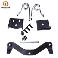 POSSBAY Motorcycle Seat Brackets Kits Spring Cafe Racer Seat Cover Cushion Mounting Kit for Harley 883 ATV Scooter Seat Pad