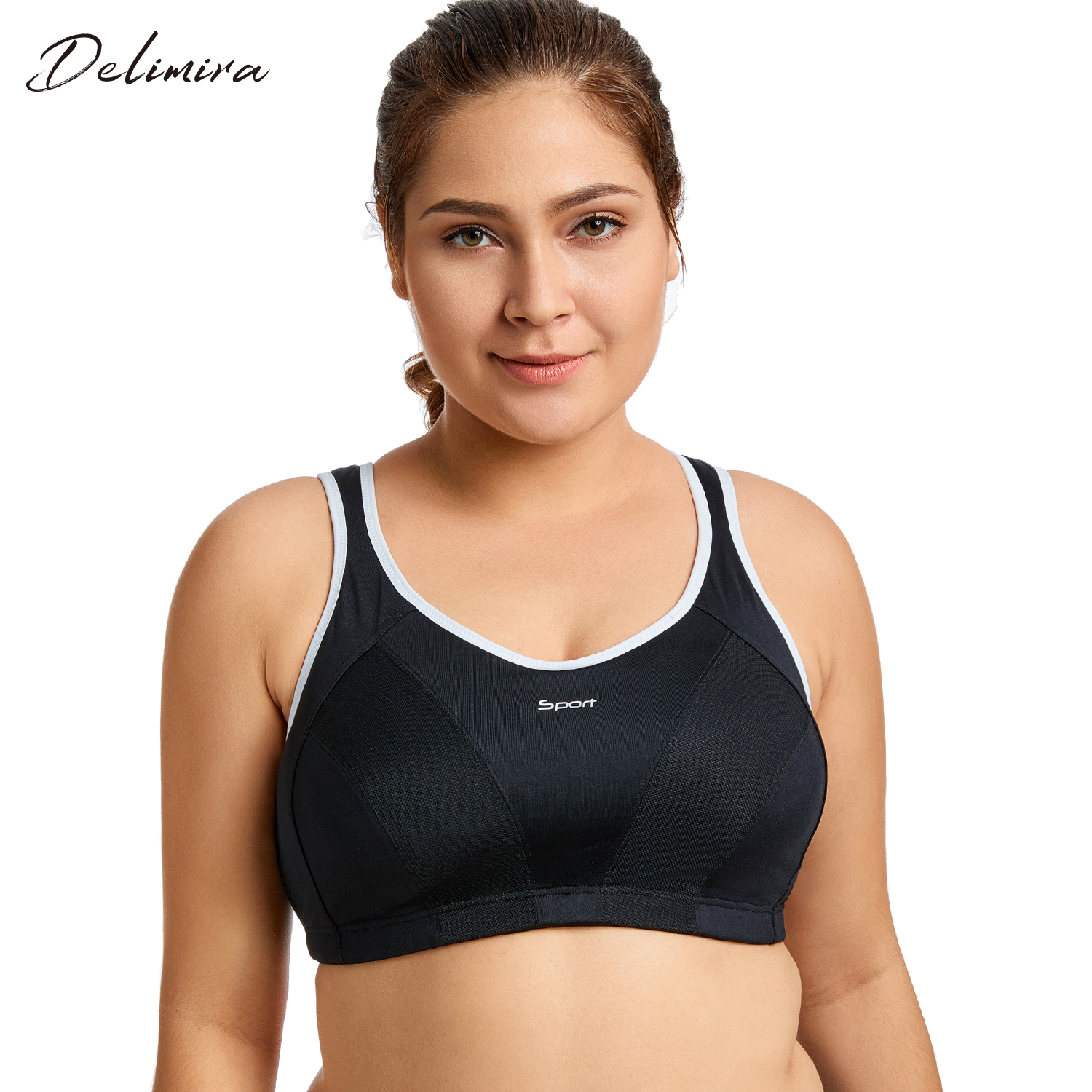 f6df1e26943e6e Women s High Impact No Bounce Full Support Non Padded Racerback Pro  Exercise Bra-in Bras from Underwear   Sleepwears on Aliexpress.com