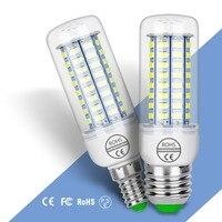 Bombilla LED GU10 E27, lámpara de 220V, luz de ahorro de energía 5730 SMD, candelabro, vela, 24 36 48 56 69 72LED