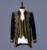 Homens Terno Do Casamento (Jacket + Pants + vest) branco preto Vogue estilo Palácio bordados de Ouro homens Smoking Clássico padrinhos de casamento imagens reais