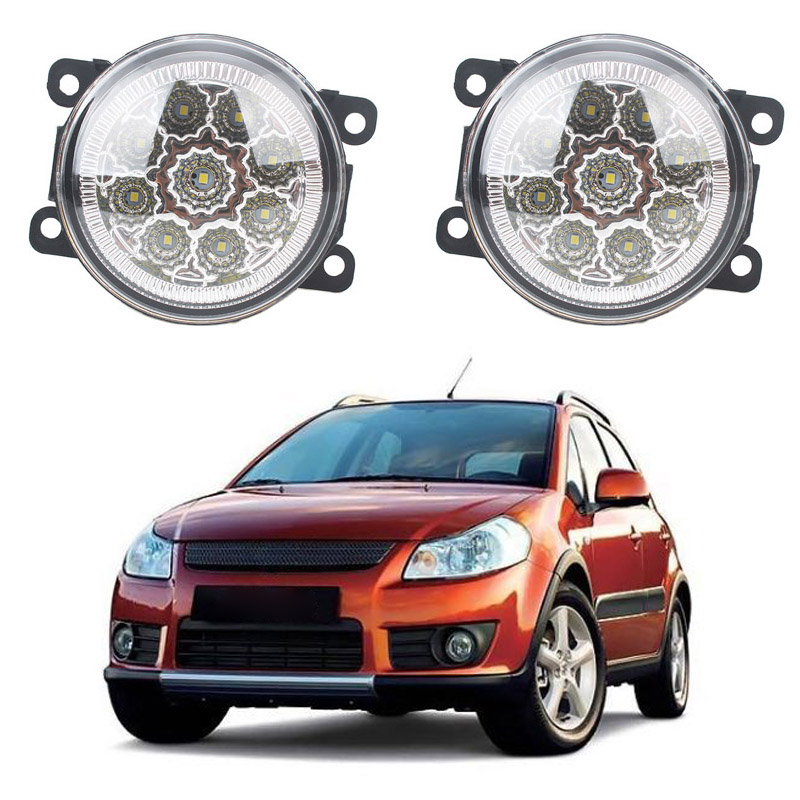 car-styling 2pcs/set Fog Lights For SUZUKI SX4 GY Hatchback 2006-2014 Front Bumper LED High Brightness Fog Lamp for opel astra h gtc 2005 15 h11 wiring harness sockets wire connector switch 2 fog lights drl front bumper 5d lens led lamp
