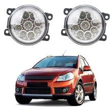 Автомобиль-Стайлинг 2 шт./компл. Противотуманные фары для SUZUKI SX4 GY хэтчбек 2006-2014 передний бампер светодиодный высокое Яркость туман лампа