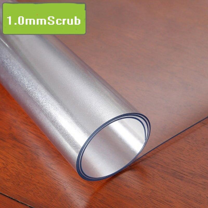 D impermeável toalha de mesa toalha de mesa toalha de mesa transparente de PVC com padrão de cozinha óleo toalha de mesa de vidro pano macio 1.0 milímetros