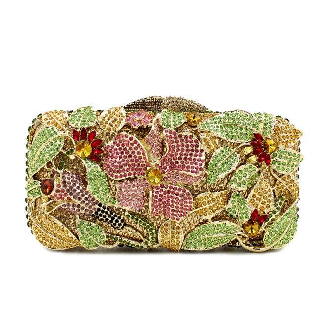 Octogone Pochette Bl026 De Embrayage Coloré Sacoche À Gold Parti Main Soirée Strass Femmes Cristal Luxe Sacs Du Bourse gHXqrx6H