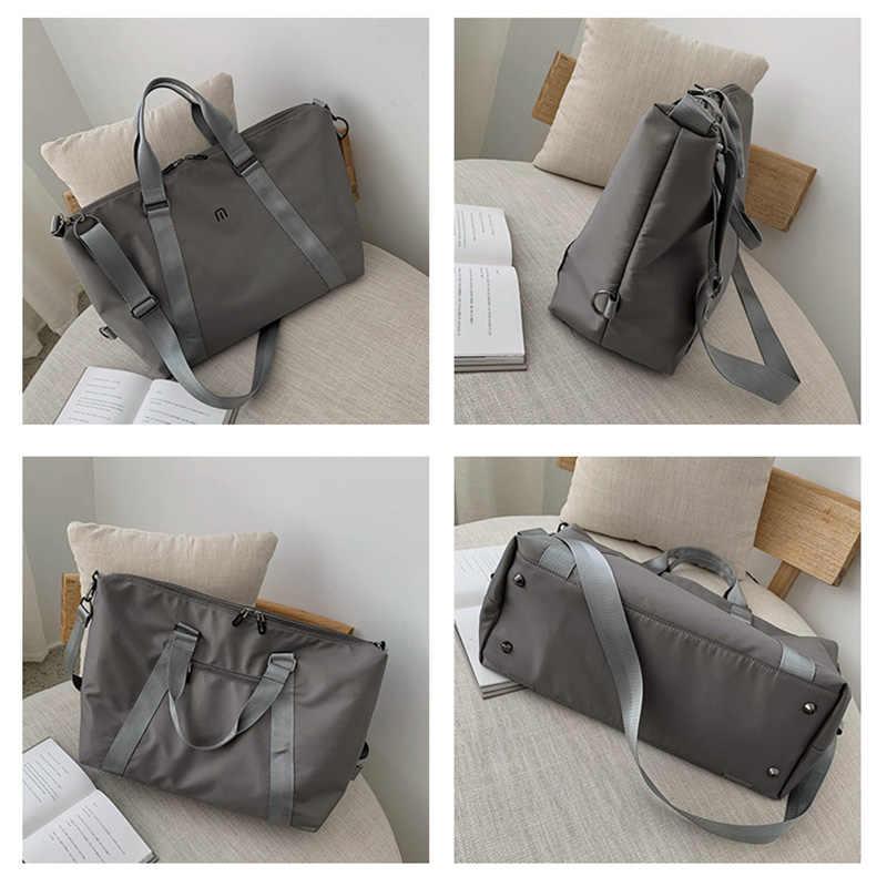 Унисекс черные дорожные сумки большой емкости Женские багажные дорожные сумки нейлон большая сумка для путешествий Складная Дорожная сумка водостойкий