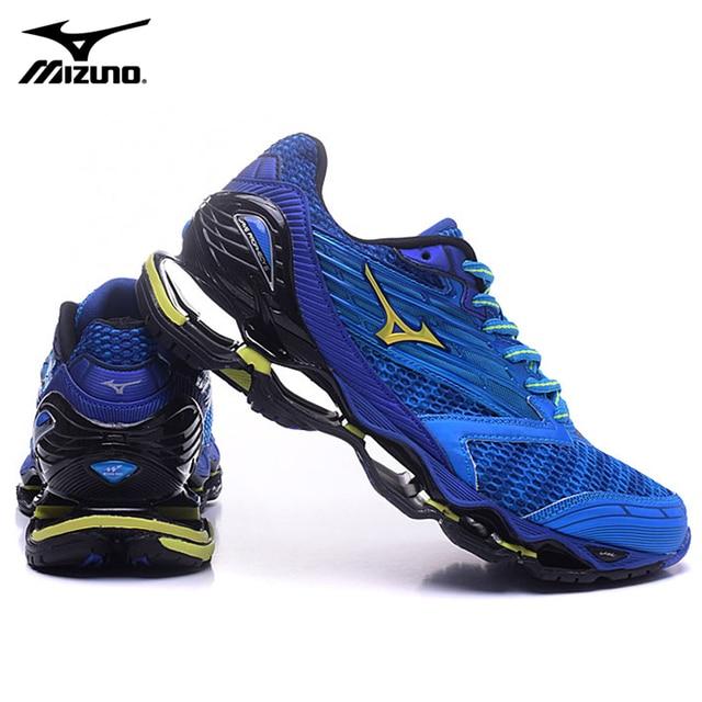 premium selection aeeb8 ec8f6 Mizuno Wave Prophecy 5 Professionnel sport Hommes Chaussures 6 Couleurs  Respirant Maille Chaussures de Course Chaussures