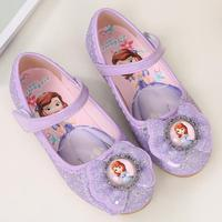 Kids Children Girl Sofia Girls Princess Sandals Fashion Shoes Flat Evening Party Leather Shoes Princess Casual