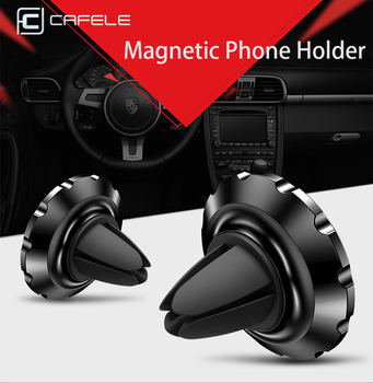 CAFELE Magnetic Car Phone Holder Stand Air Vent Mini Car Holder For Huawei P20 iPhone X 8 7 Samsung S9 GPS Support Mobile Phone image