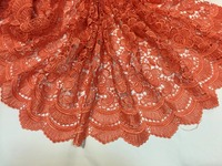 5yd Lot ZSG21 Newest Beautiful Flower African Lace Guipure Cord Lace Fabric For Women Dress