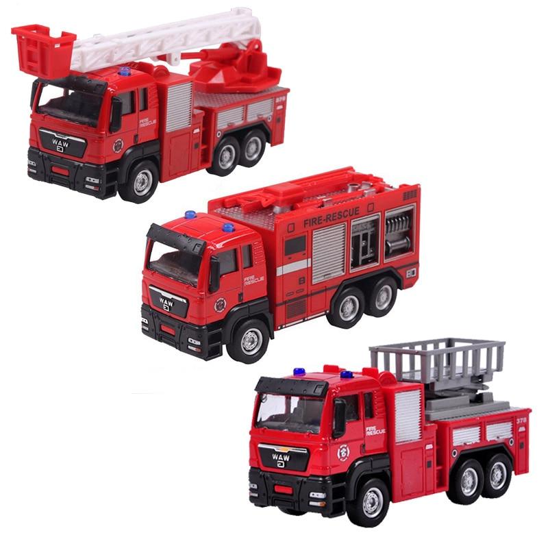 1:55 антенны автолестница грузовик пожарная машина грузовик воды спасательный автомобиль новый Mini Remote Управление пожарная машина с подсветк...