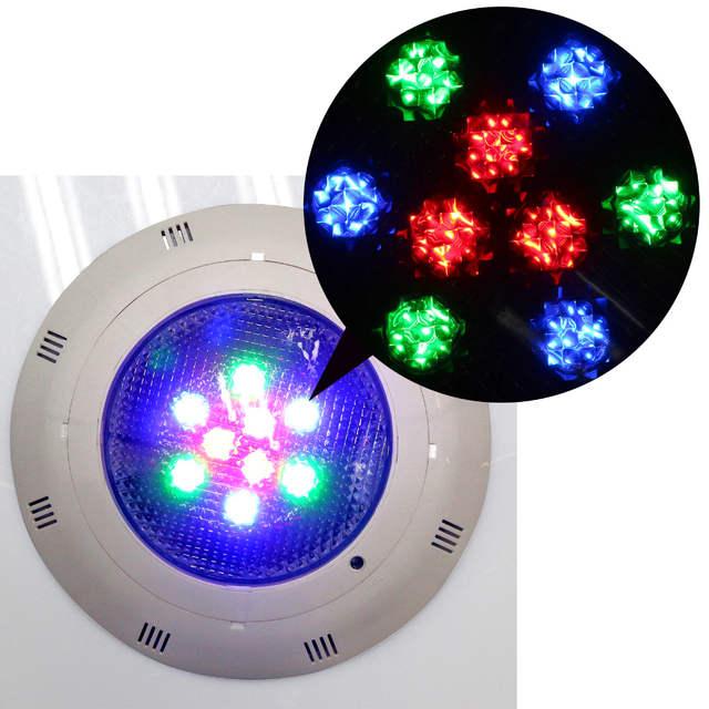 US $60.58 |9W RGB LED Swimming Pool Light Underwater Lamp Fountain  Spotlight Lamp AC12 Vunderwater lights pools garden lighting fountains-in  LED ...